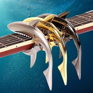 Metallic Shark Guitar Capo - Sharkapo!