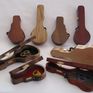 Mini Wooden Guitar Case for Picks