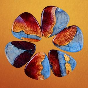 Resin and Manzanita Burl Wood Guitar Picks