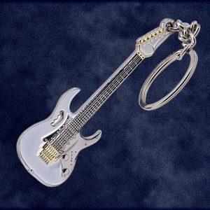 Metal Classic Rock Guitar Keyring - Steve Vai Ibanez