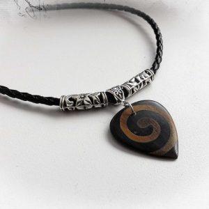 Tribal Tone Timber Guitar Pick Choker Necklace